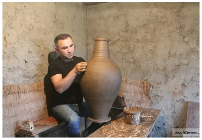 Old popular art in Gabala,
